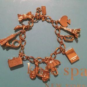 late spade charm bracelet